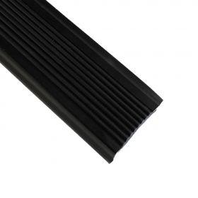Treppenkantenprofil - Schwarz - Alu mit Gummi-Einlage - 42 x 22 x 1000 mm - 1 Stück