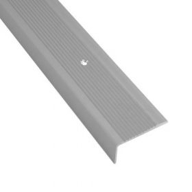 Alu-Treppenkantenprofil - Silber - Rutschhemmendes Rillenmotiv - 42x21x1000mm - 15 Stück