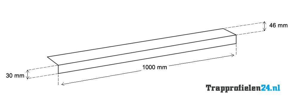 Treppenkantenprofil mit Antirutscheinlage - Abmessungen